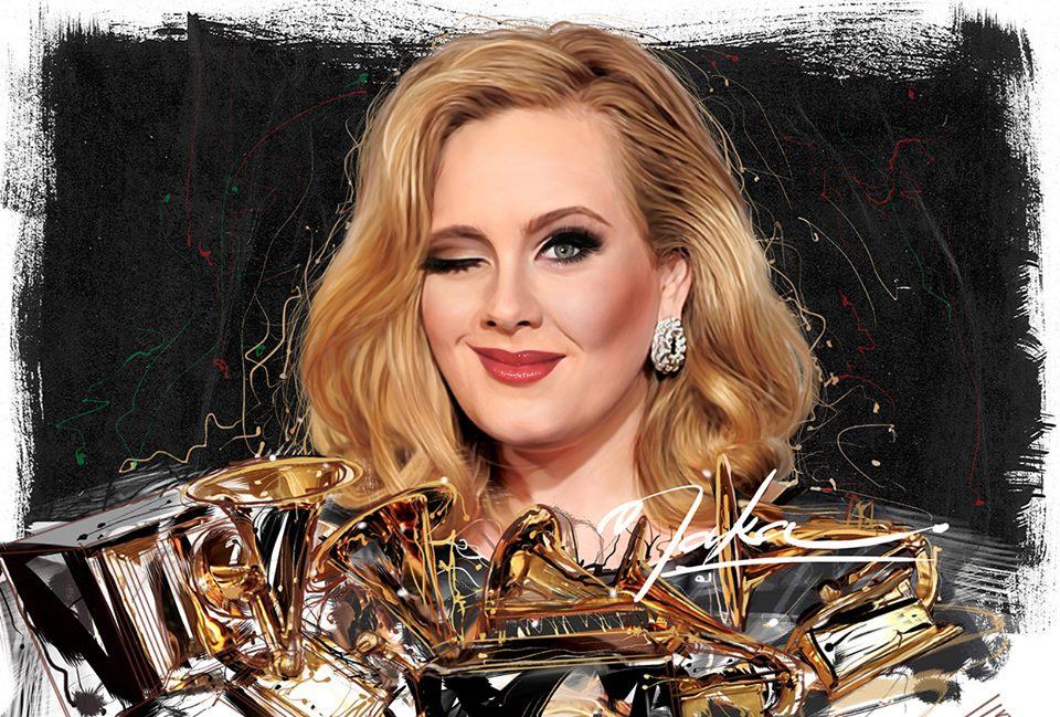 Naka Ilustrador, Adele with Grammys